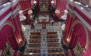 Drone Footage from Inside the Kercem Parish Church